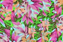 El estilo del vintage de la tapicería florece el modelo de la tela Imagenes de archivo