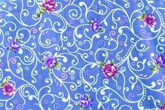 El estilo del vintage de la tapicería florece el modelo de la tela Foto de archivo libre de regalías