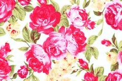 El estilo del vintage de la tapicería florece la tela Imagenes de archivo