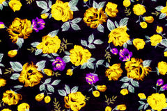El estilo del vintage de la tapicería florece la tela Imagen de archivo
