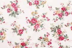 El estilo del vintage de la tapicería florece la tela Fotografía de archivo