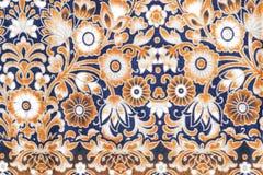 El estilo del vintage de la tapicería florece la tela Foto de archivo