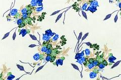 El estilo del vintage de la tapicería florece la tela Fotos de archivo libres de regalías