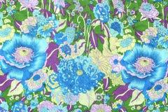 El estilo del vintage de la tapicería florece la tela Fotos de archivo