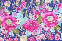 El estilo del vintage de la tapicería florece la tela Imágenes de archivo libres de regalías