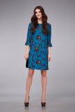 El estilo hermoso de la moda de la mujer viste el catálogo modelo de la colección Fotos de archivo