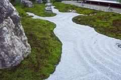 El estilo japonés kamakura Japón del jardín de piedras del zen Fotos de archivo libres de regalías