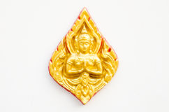 El estilo tailandés del arte en la pared, toma la foto del templo imágenes de archivo libres de regalías