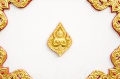 El estilo tailandés del arte en la pared, toma la foto del templo Fotos de archivo