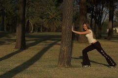 El estirar antes de ejercicio Fotografía de archivo