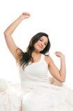El estirar de la mañana Imagen de archivo libre de regalías
