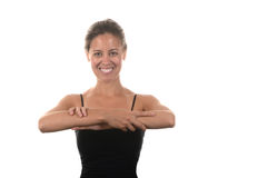 El estirar de la mujer foto de archivo libre de regalías