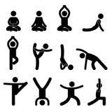 El estirar del ejercicio de la meditación de la yoga stock de ilustración