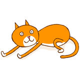 El estirar del gato Imagen de archivo