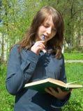 El estudiante antes de la examinación Imagen de archivo