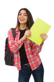 El estudiante joven aislado en blanco Foto de archivo libre de regalías