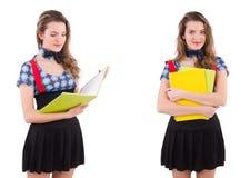 El estudiante joven aislado en el blanco Fotografía de archivo libre de regalías