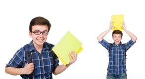 El estudiante joven con el libro en blanco Imágenes de archivo libres de regalías