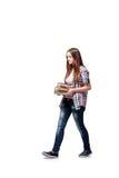 El estudiante joven que se prepara para los exámenes de la escuela Imágenes de archivo libres de regalías