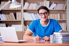 El estudiante joven que se prepara para los exámenes de la escuela Fotografía de archivo libre de regalías