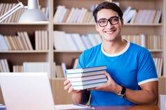 El estudiante joven que se prepara para los exámenes de la escuela Imagen de archivo