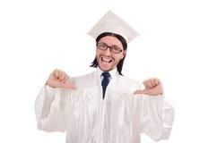 El estudiante masculino joven graduó de High School secundaria encendido Fotografía de archivo libre de regalías