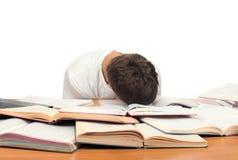 El estudiante se cae dormido Fotos de archivo libres de regalías