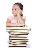 El estudiar adorable de la muchacha Foto de archivo libre de regalías