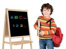 El estudiar adorable del niño Imagen de archivo