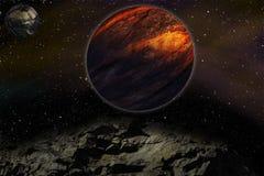 El estudiar de otros planeta ilustración del vector