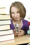 El estudiar del adolescente Foto de archivo libre de regalías