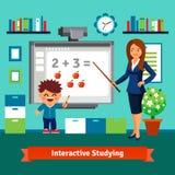 El estudiar del profesor particular privado stock de ilustración