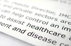El estudiar sobre cuidado médico Imágenes de archivo libres de regalías