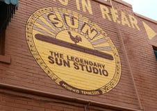 El estudio famoso y legendario de Sun, Memphis Tennessee Foto de archivo libre de regalías