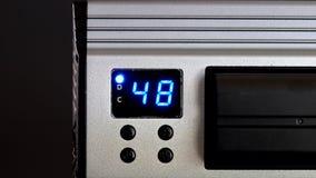El estudio llevó el panel trasero ligero con el indicador digital almacen de metraje de vídeo