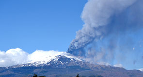 El Etna Imagenes de archivo