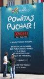El EURO 2012 sigue el viaje del trofeo: Wroclaw, POLÍTICO Foto de archivo libre de regalías
