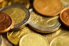 El euro acuña el dinero Fotos de archivo