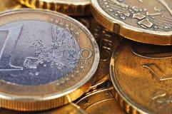 El euro acuña el dinero Imagen de archivo libre de regalías