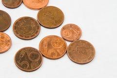 El euro acuña el marco del fondo Fotografía de archivo
