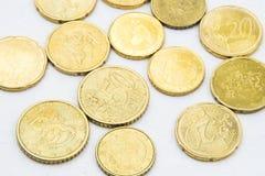 El euro acuña el marco del fondo Imagen de archivo libre de regalías