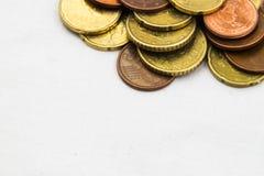 El euro acuña el marco del fondo Imagenes de archivo
