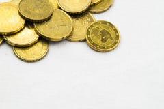 El euro acuña el marco del fondo Fotografía de archivo libre de regalías