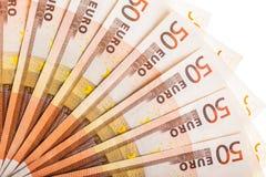 El euro carga en cuenta la fan Fotografía de archivo libre de regalías