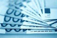 El euro del dinero Imágenes de archivo libres de regalías
