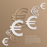 El euro del vector firma el fondo Imagen de archivo