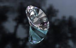 El euro grande cortó alrededor de diamante en superficie brillante Imagen de archivo