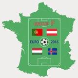 El 2016 EURO grupo F Foto de archivo
