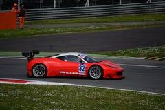El euro GT esprinta Ferrari 458 Italia en Monza Foto de archivo