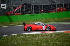 El euro GT esprinta Ferrari 458 Italia en Monza Foto de archivo libre de regalías